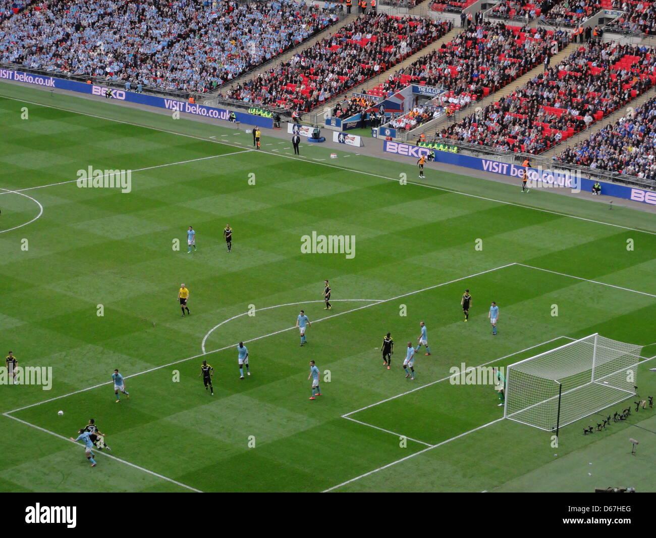 Manchester City Fc And Chelsea: Diverse Szenen Im Wembley-Stadion Des FA Cup Halbfinales