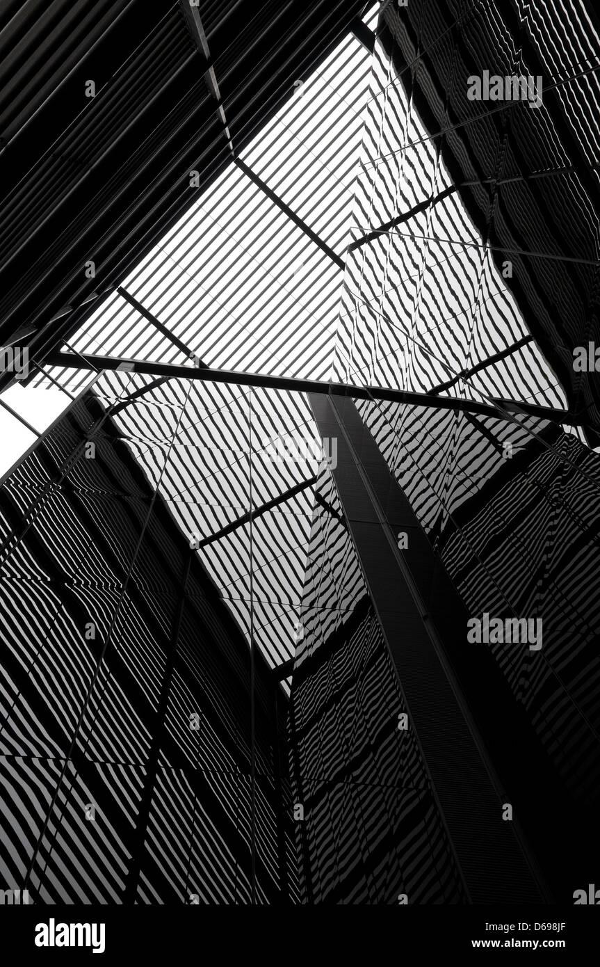 moderne zeitgenössische Architektur Stockbild