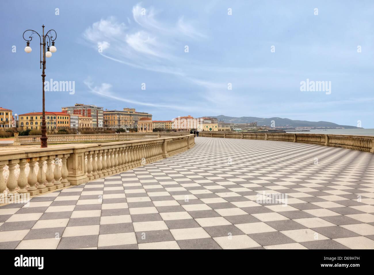 Livorno, Terrazza Mascagni, Toskana, Italien Stockfoto, Bild ...