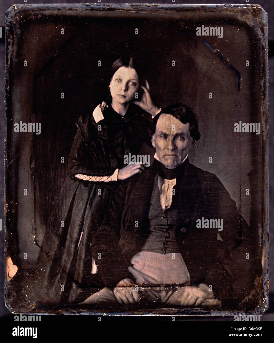 Paar Porträt, Daguerreotypie, ca. 1850 Stockfoto