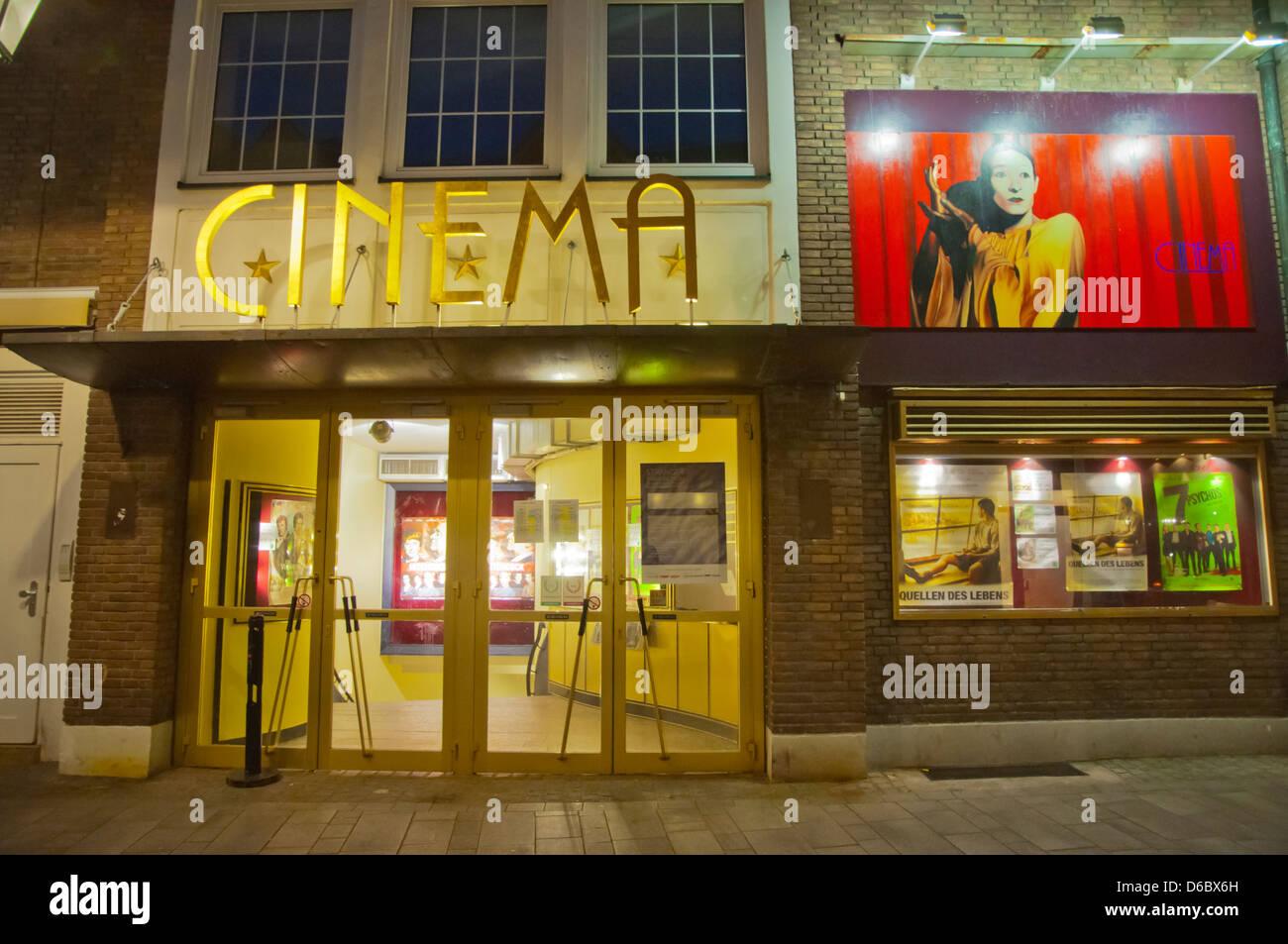 Kino Kino Altstadt der alten Stadt Düsseldorf Stadt Nordrhein-Westfalen Region Deutschland Westeuropa Stockbild