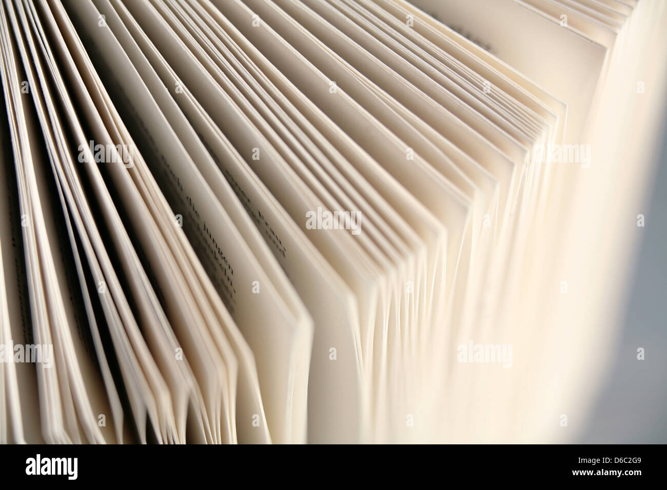 Buch, Buchseite Stockbild