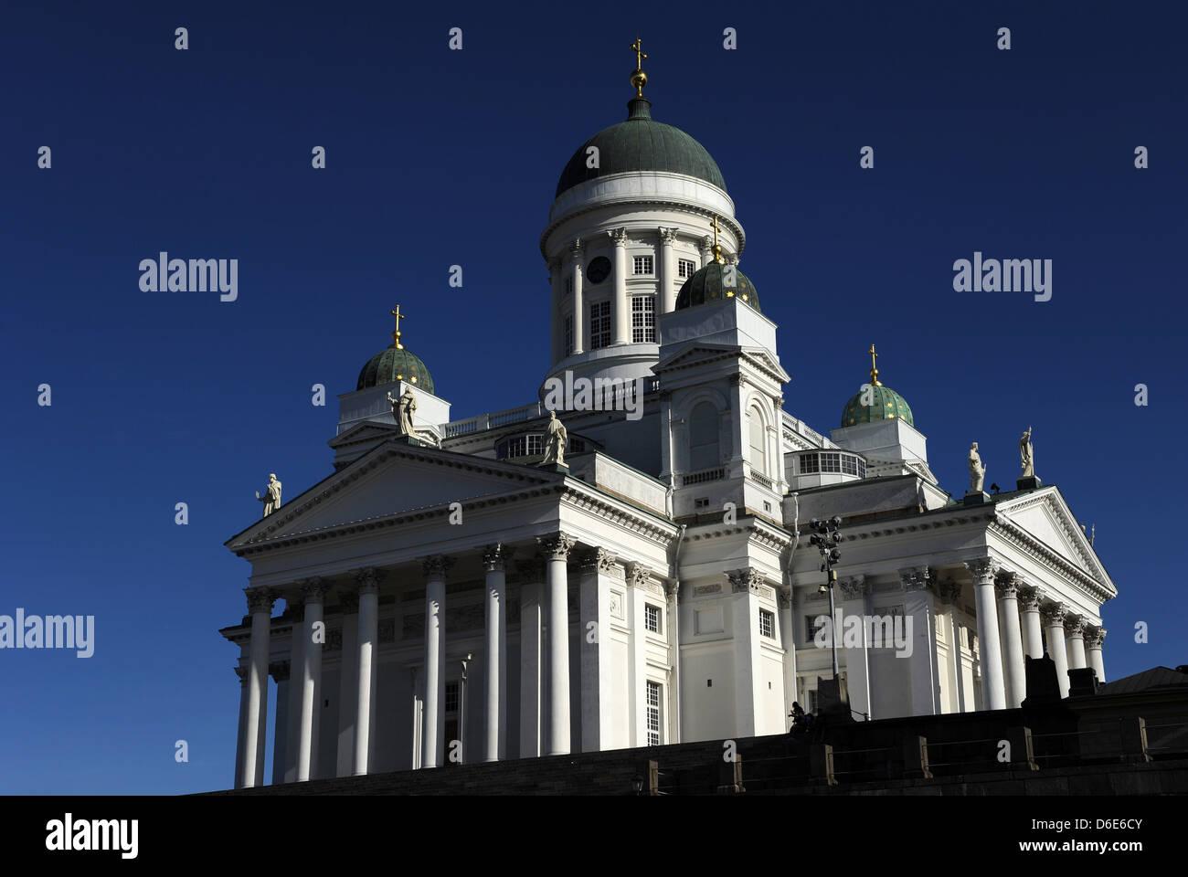 Finnland. Helsinki. Finnische evangelisch-lutherische Dom. Von Carl Ludvig Engel (1778 ? 1840) entworfen im neoklassischen Stockbild