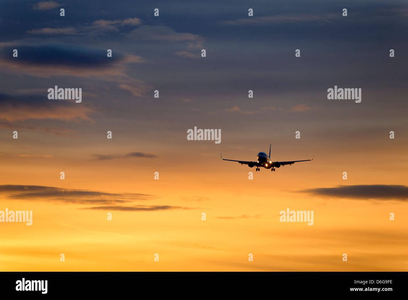 Jet Flugzeug im Flug. Stockbild