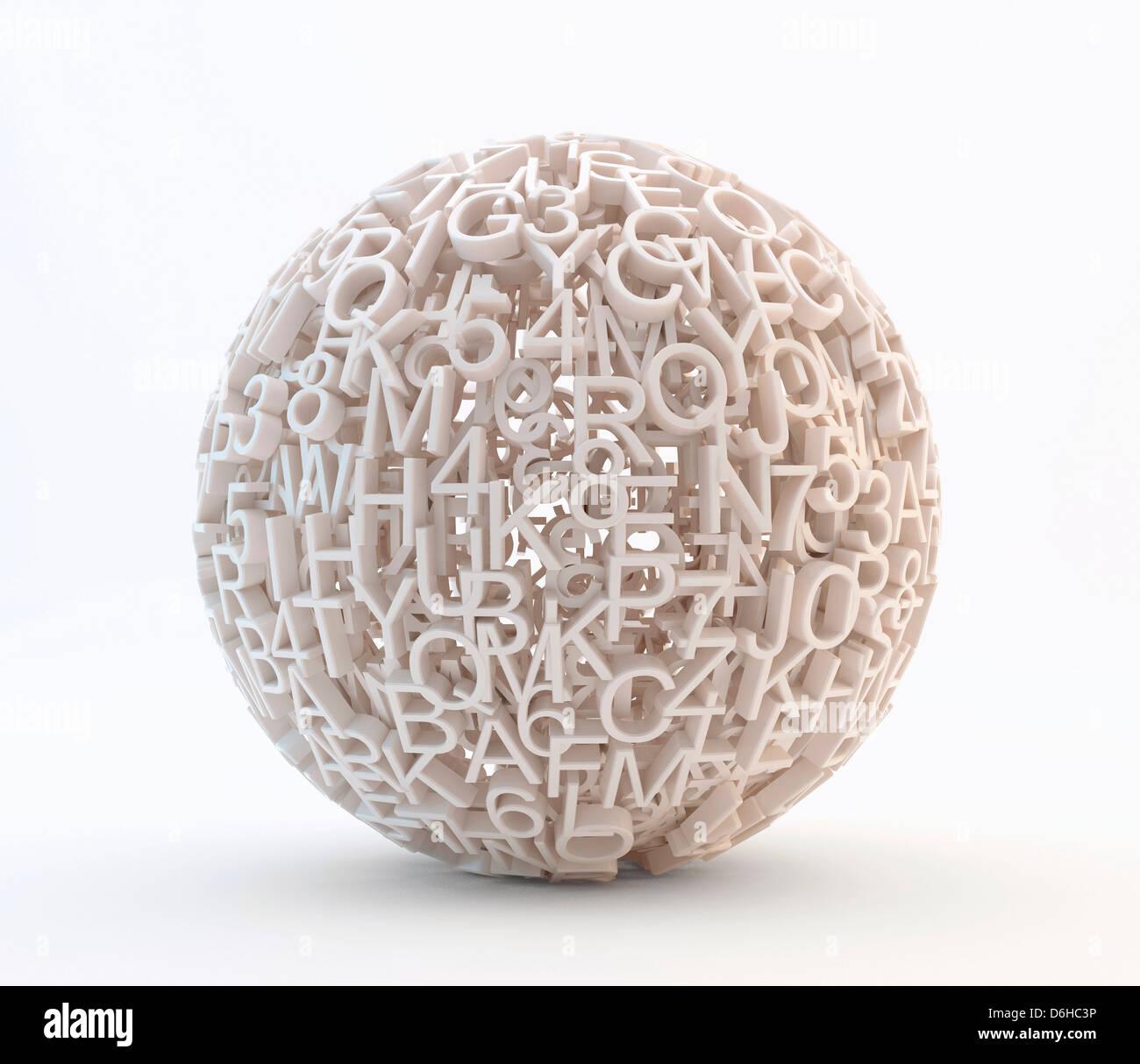 Globale Daten, konzeptuellen Kunstwerk Stockbild