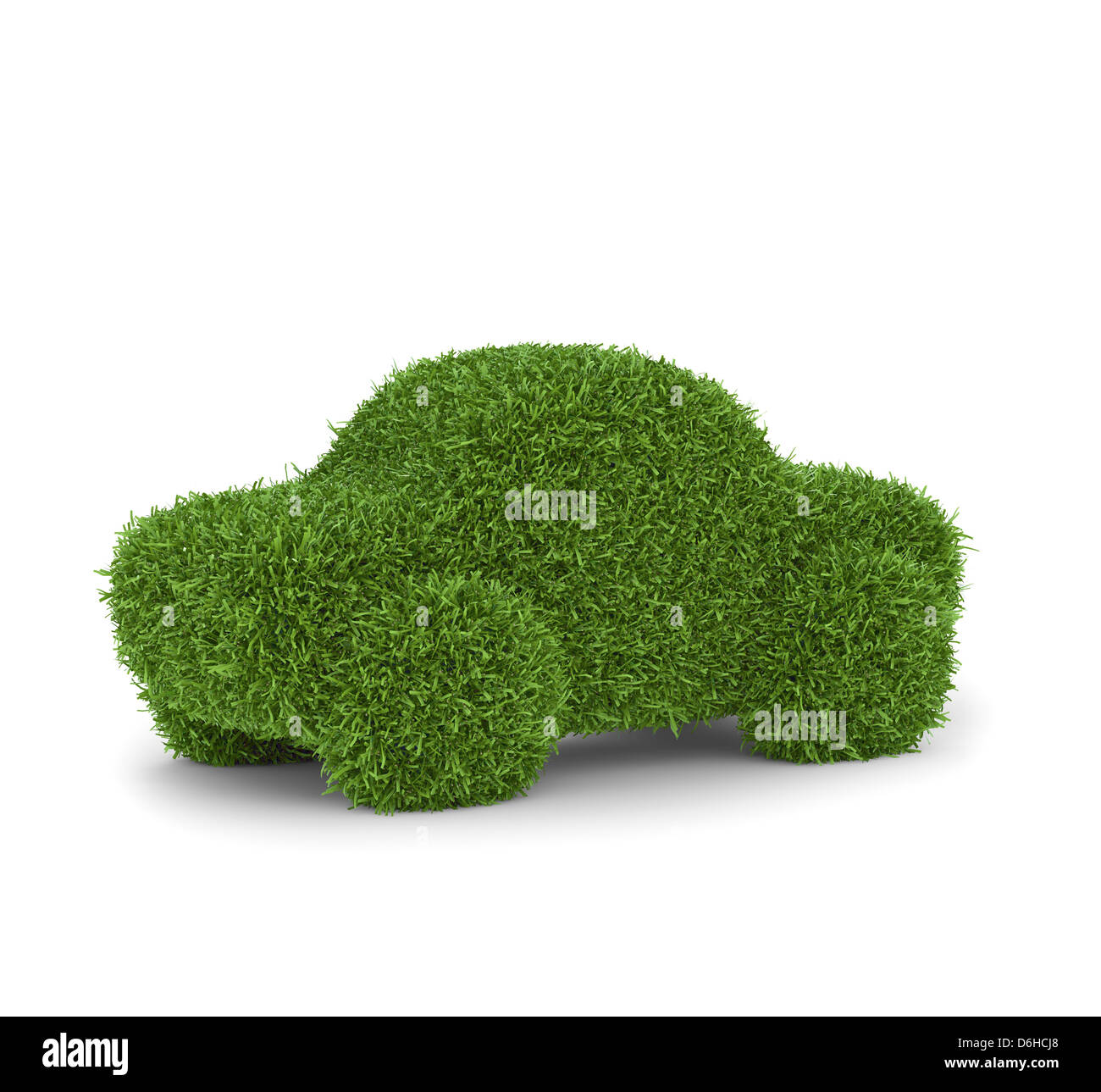 Grünes Auto, konzeptuellen Kunstwerk Stockbild