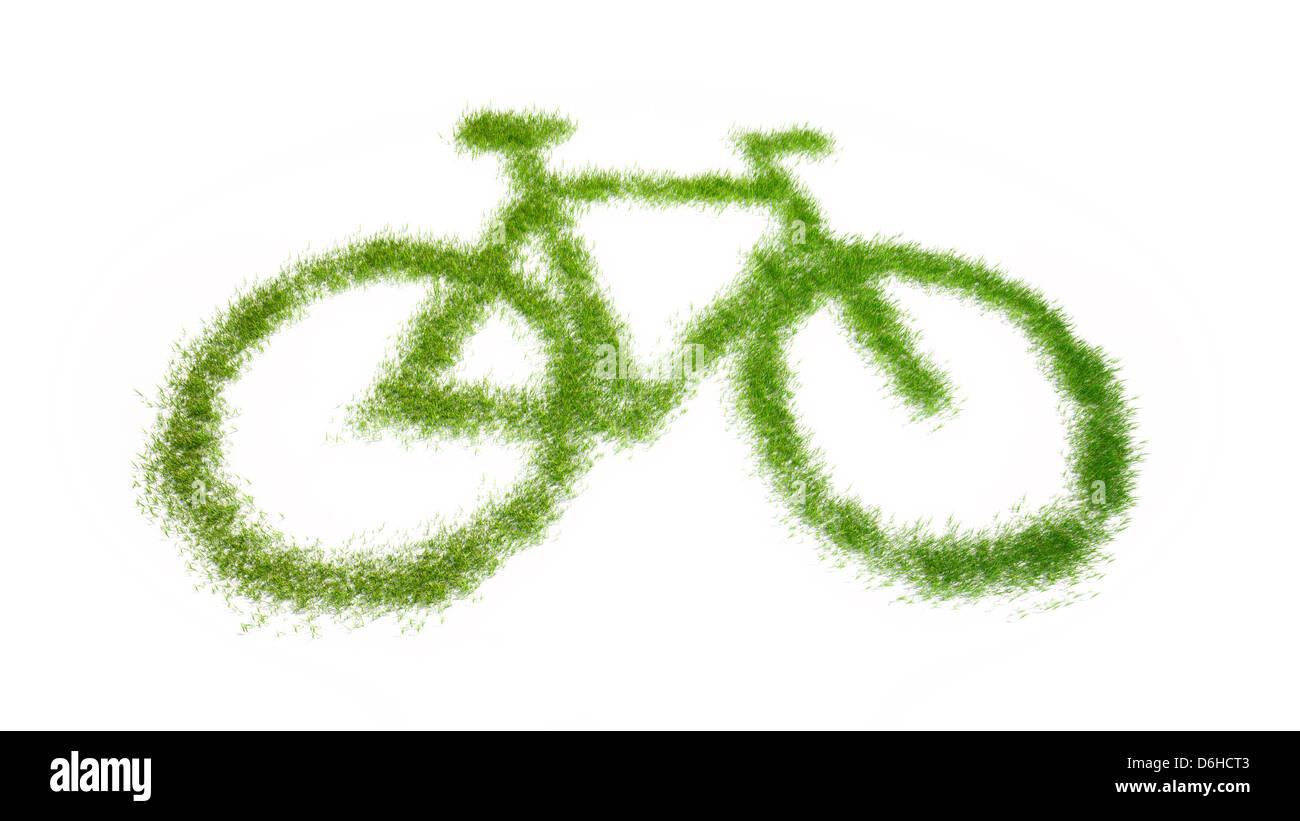 Umweltfreundlichen Verkehr, konzeptuellen Kunstwerk Stockbild