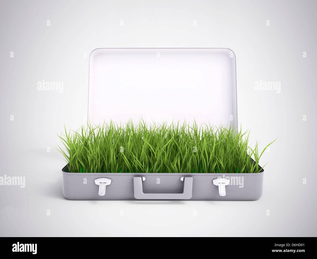 Grüne Investitionen, konzeptuellen Kunstwerk Stockbild