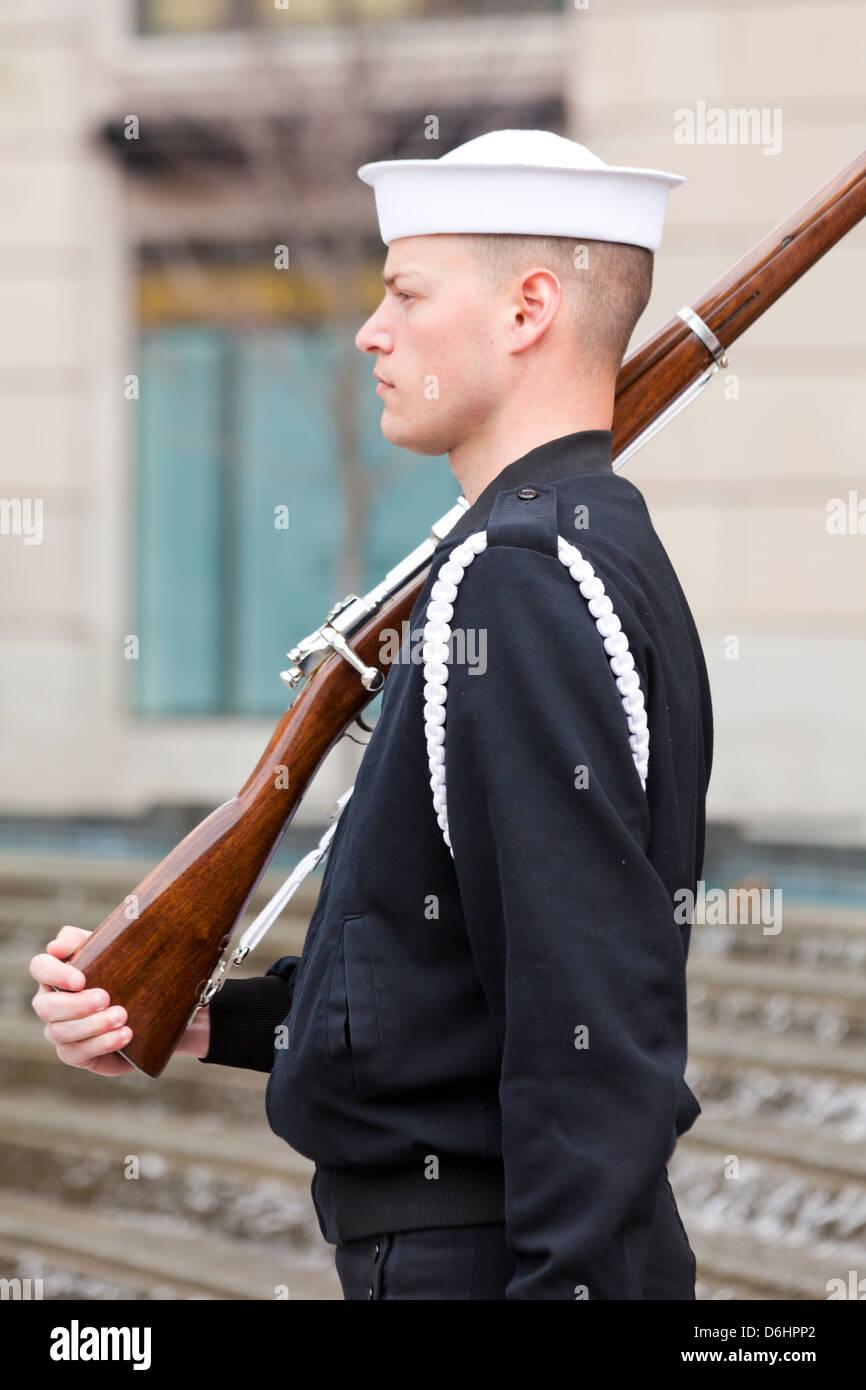 US Navy zeremonielle bewachen Stockbild