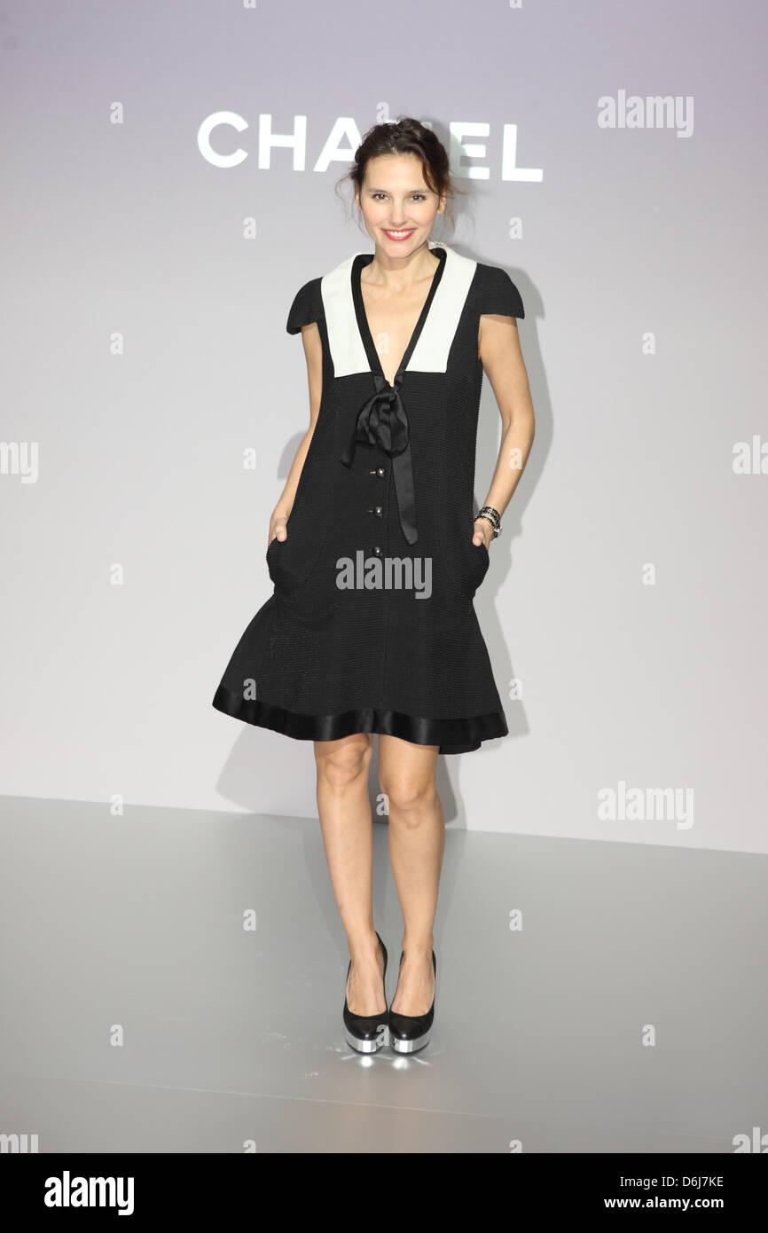 Französische Schauspielerin Virginie Ledoyen kommt für die Chanel ...