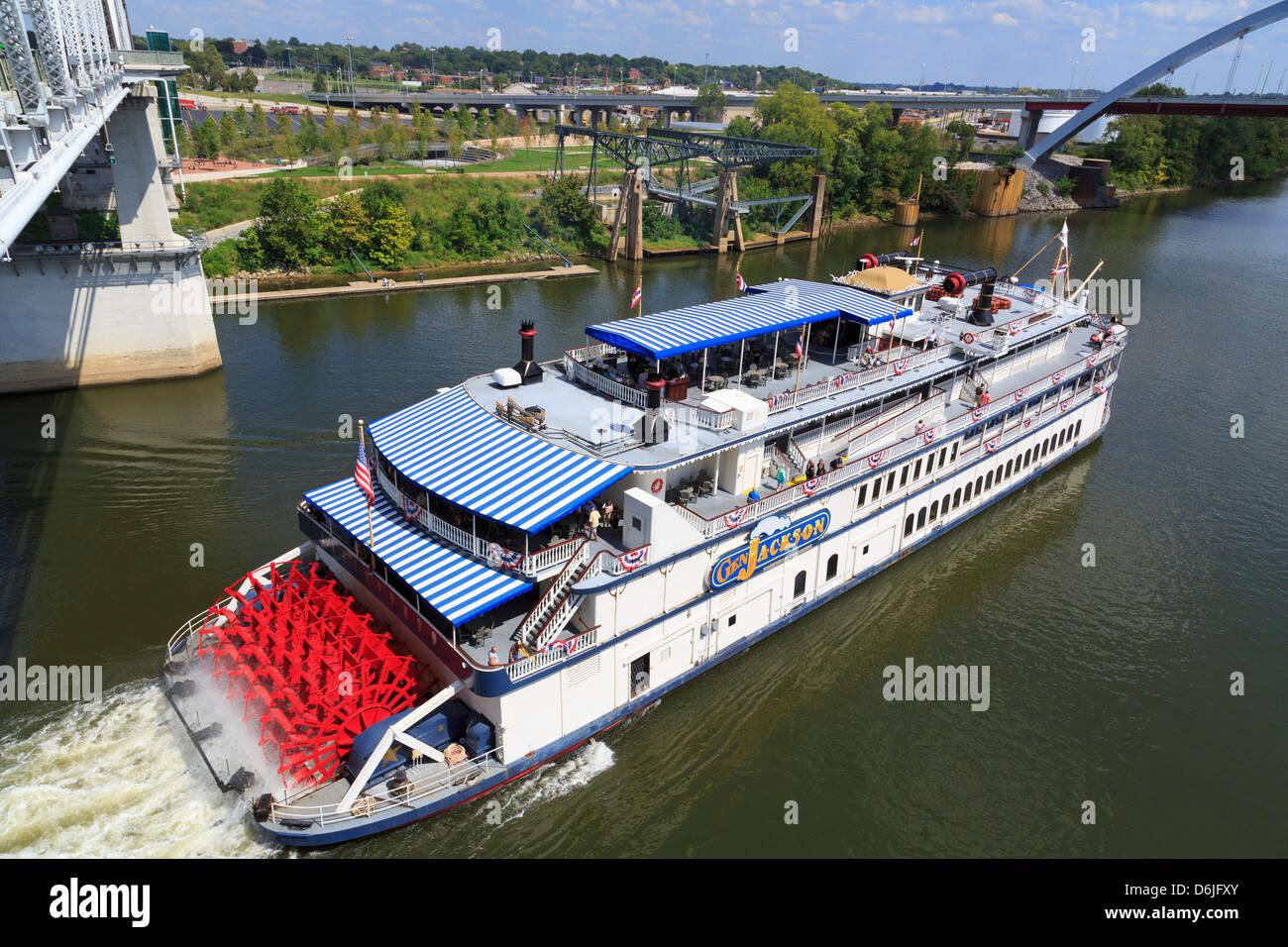 General Jackson Riverboat, Nashville, Tennessee, Vereinigte Staaten von Amerika, Nordamerika Stockbild
