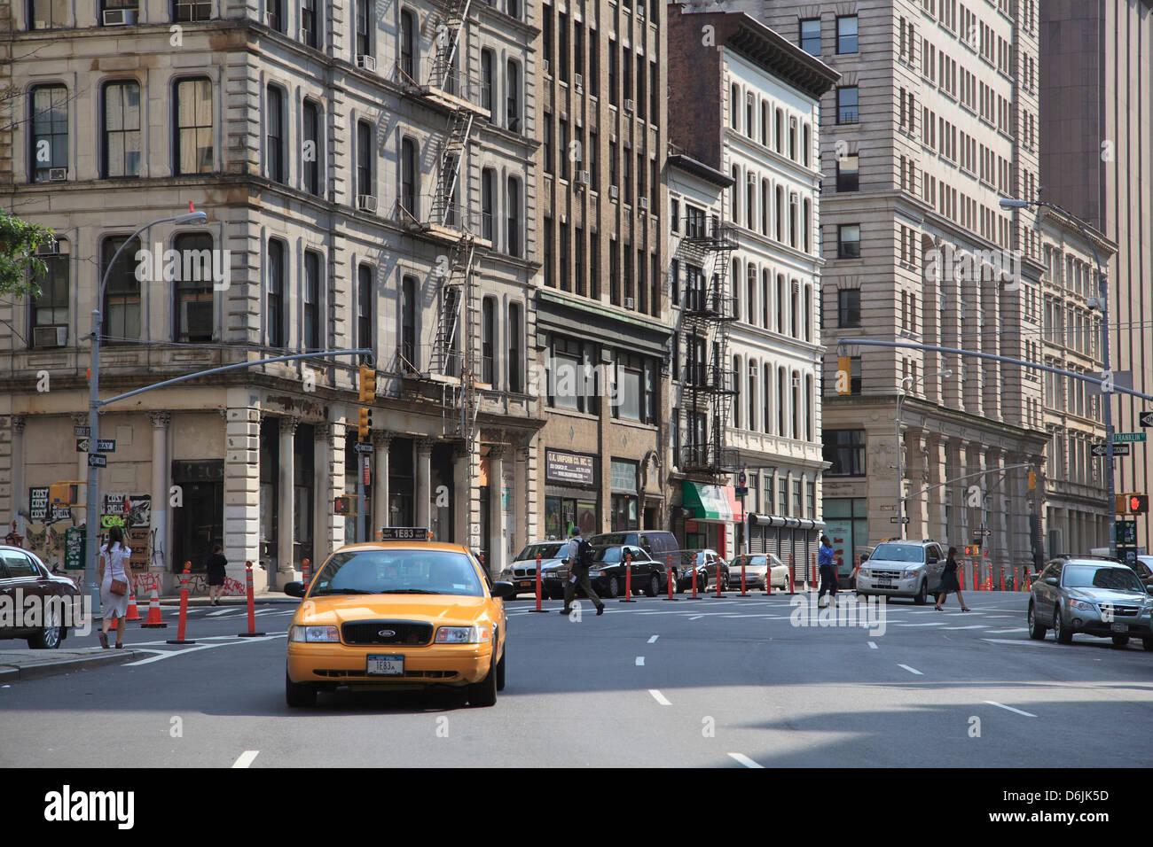 Straßenszene, Tribeca, Manhattan, New York City, Vereinigte Staaten von Amerika, Nordamerika Stockbild