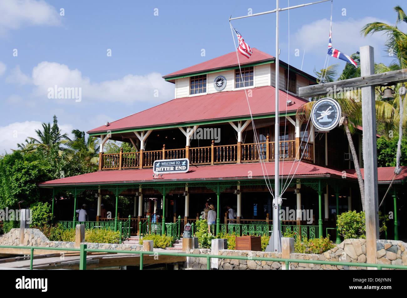 Bitter End Yachtclub, Insel Virgin Gorda, Britische Jungferninseln, West Indies, Karibik, Mittelamerika Stockbild