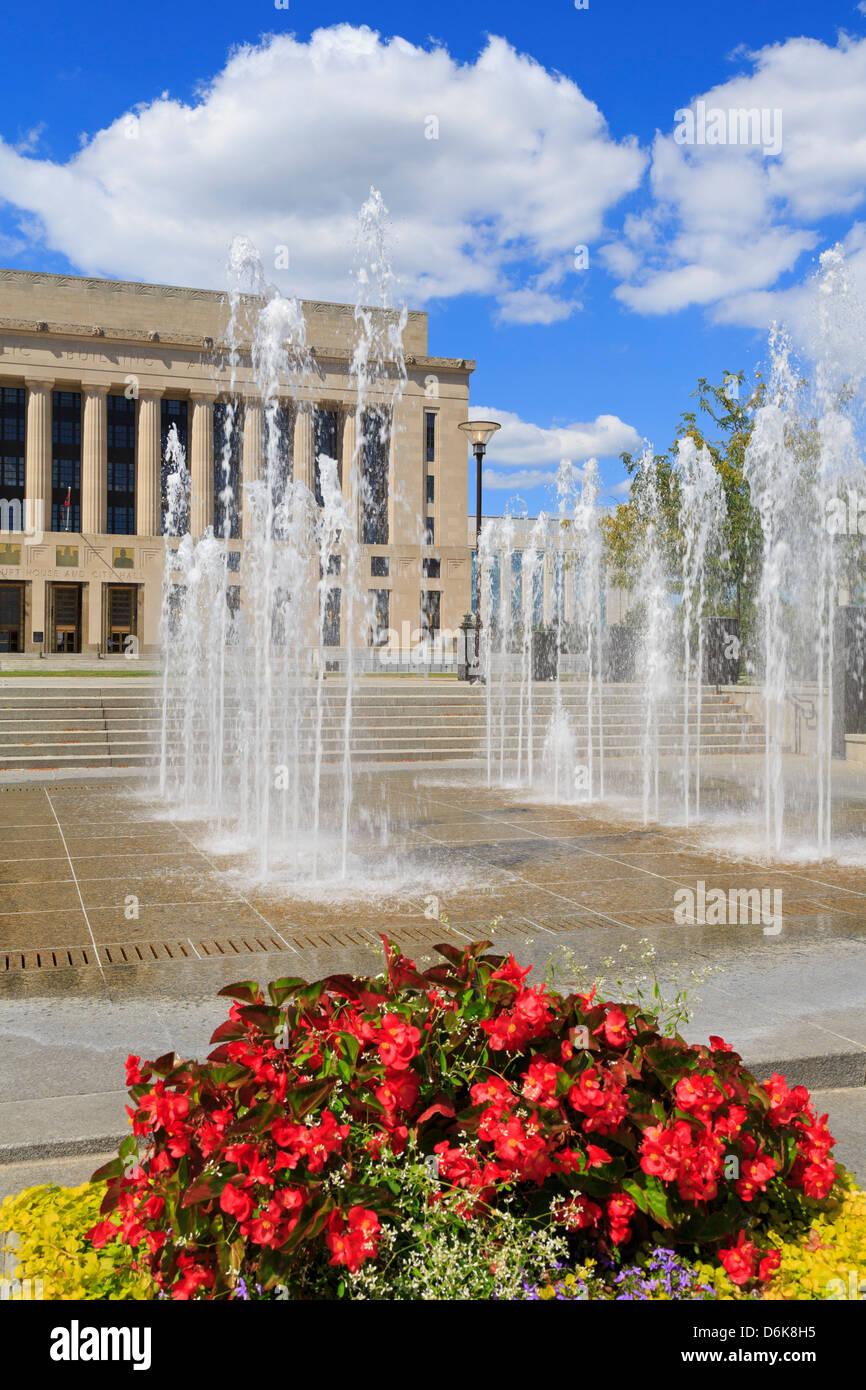 Metro Gerichtsgebäude Public Square, Nashville, Tennessee, Vereinigte Staaten von Amerika, Nordamerika Stockbild