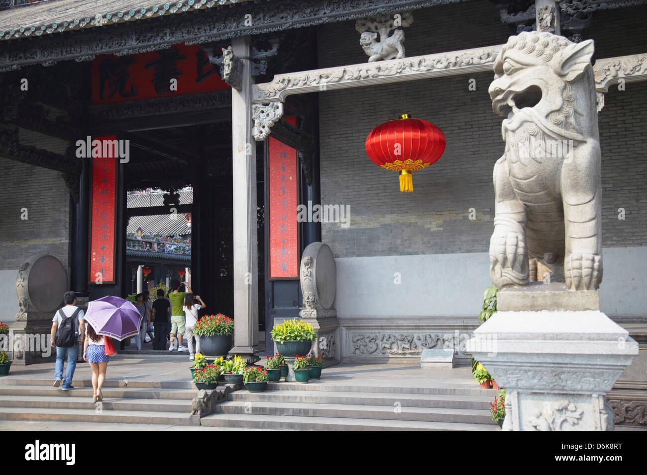 Menschen bei Chen Clan Akademie, Guangzhou, Guangdong, China, Asien Stockbild