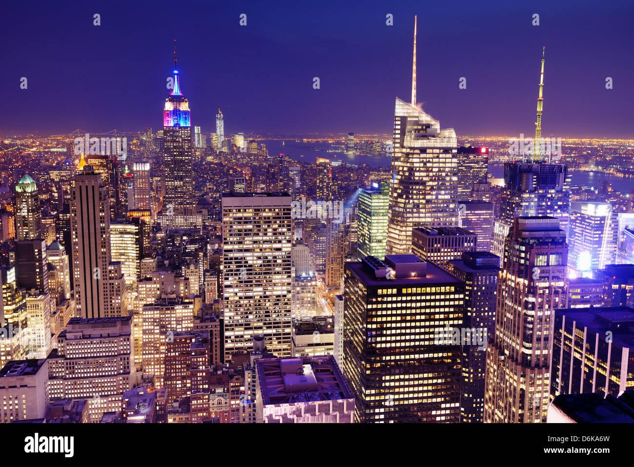 New York City von oben gesehen. Stockbild