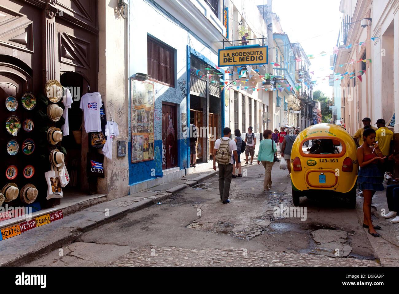 Außerhalb La Bodeguita del Medio die Hemingway bar Lieblingsorte. Kubanische Havanna, La Habana, Cuba, Südamerika, Stockbild