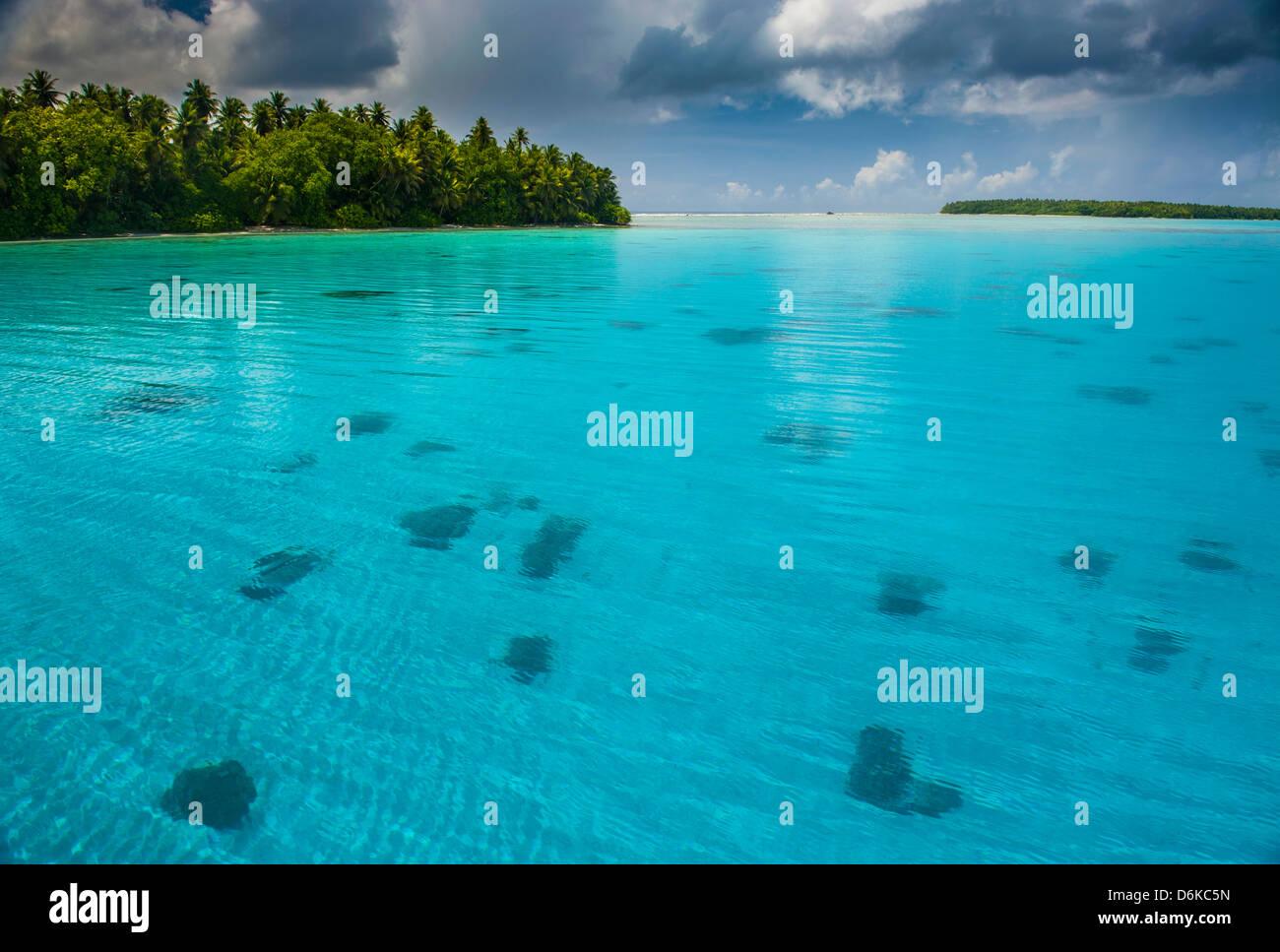 Wunderschönen türkisfarbenen Wasser im Ant-Atoll, Pohnpei, Mikronesien, Pazifik Stockbild