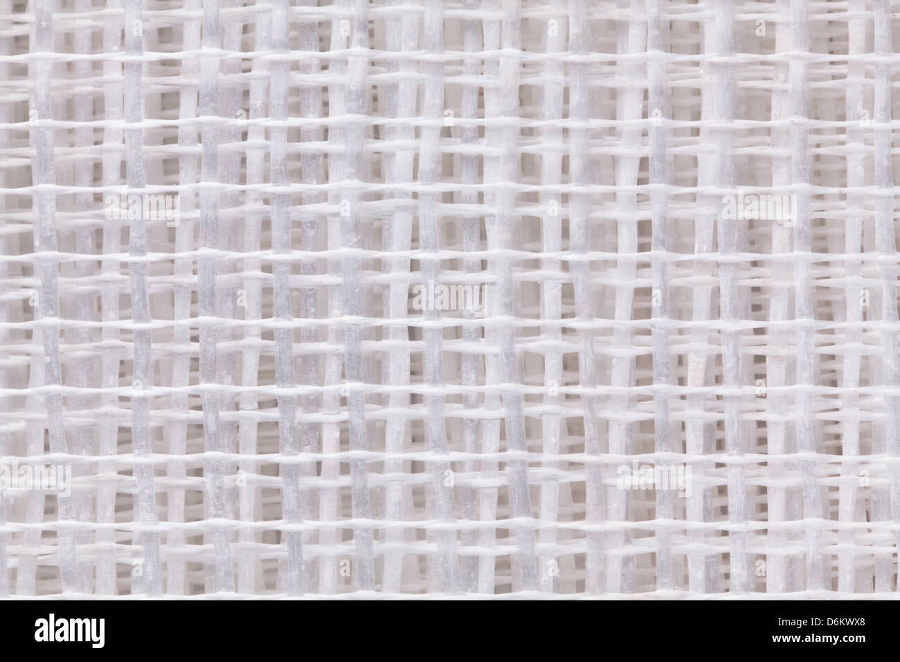 Mesh-Glasfaser Isolierung Textur closeup Stockbild