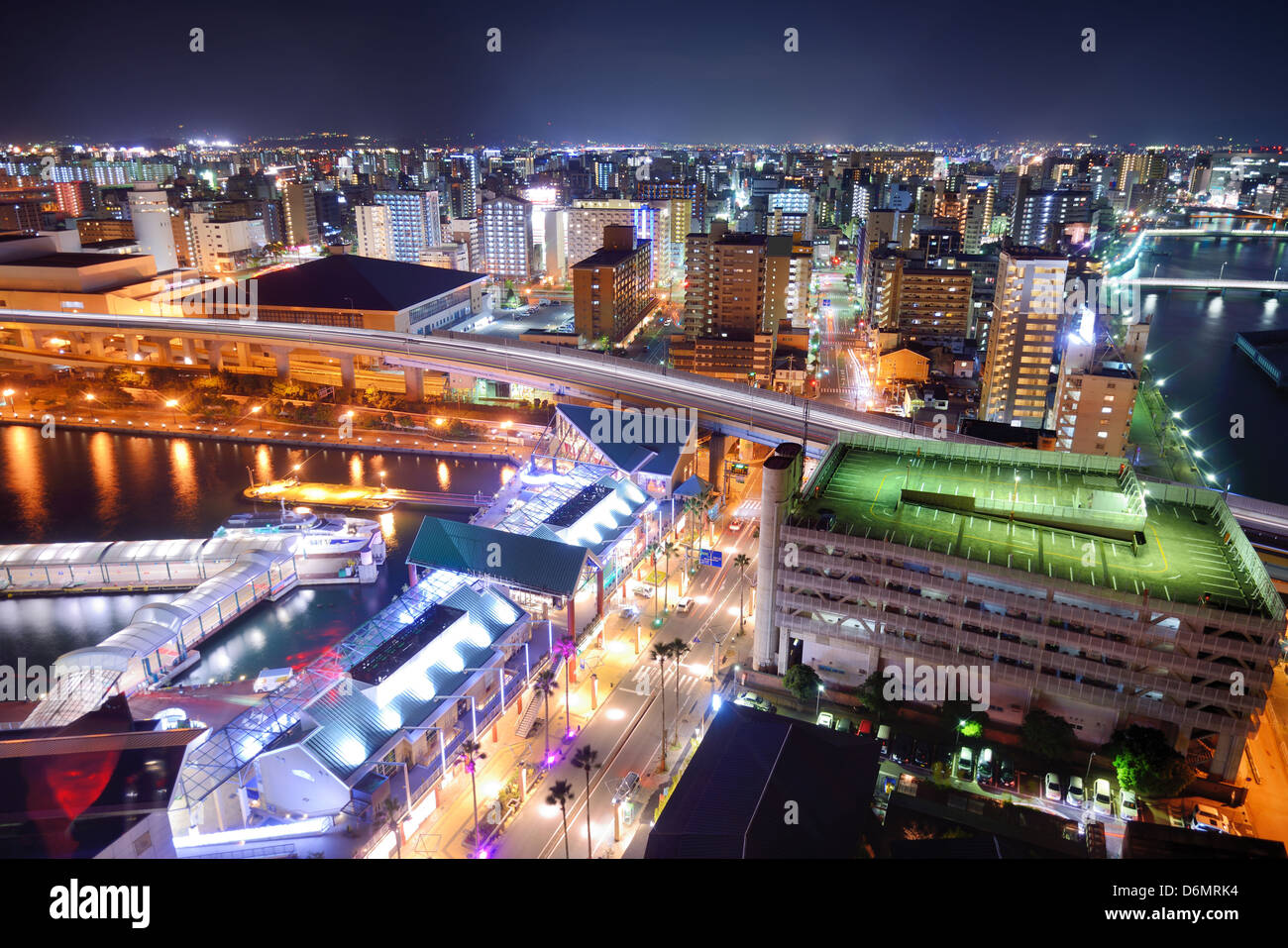 Fukuoka, Japan Stadtbild Stockbild