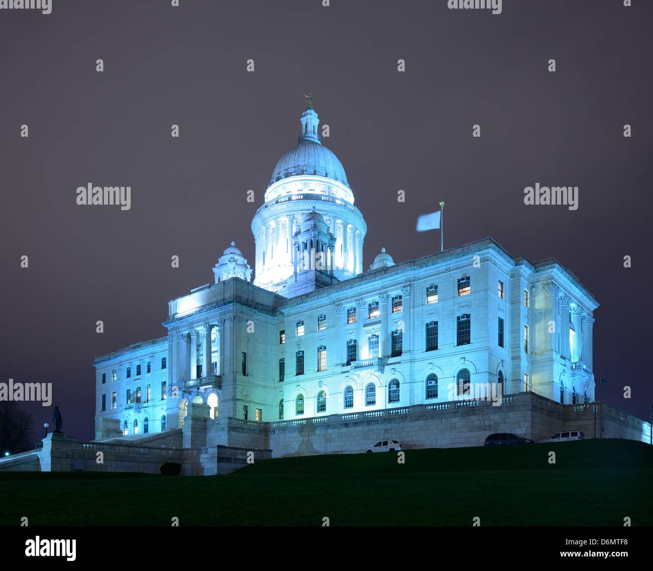 Rhode Island State House in Providence, Rhode Island. Stockbild
