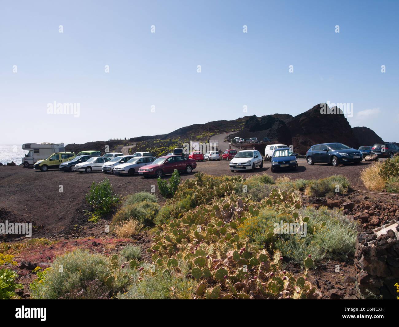 Parken in der Nähe der Punta de Teno Leuchtturm im Westen von Teneriffa, Stockbild