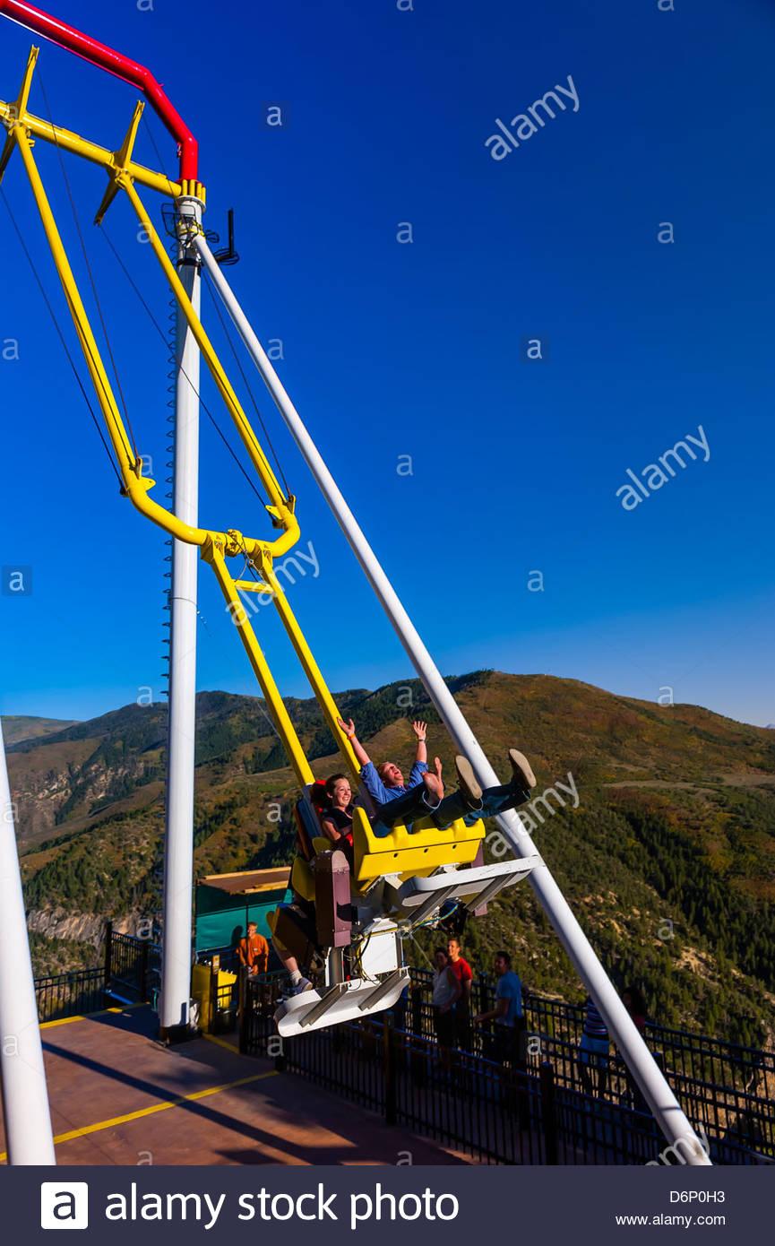 Riesen Canyon Swing 1300 Fuß über Dem Colorado River Glenwood