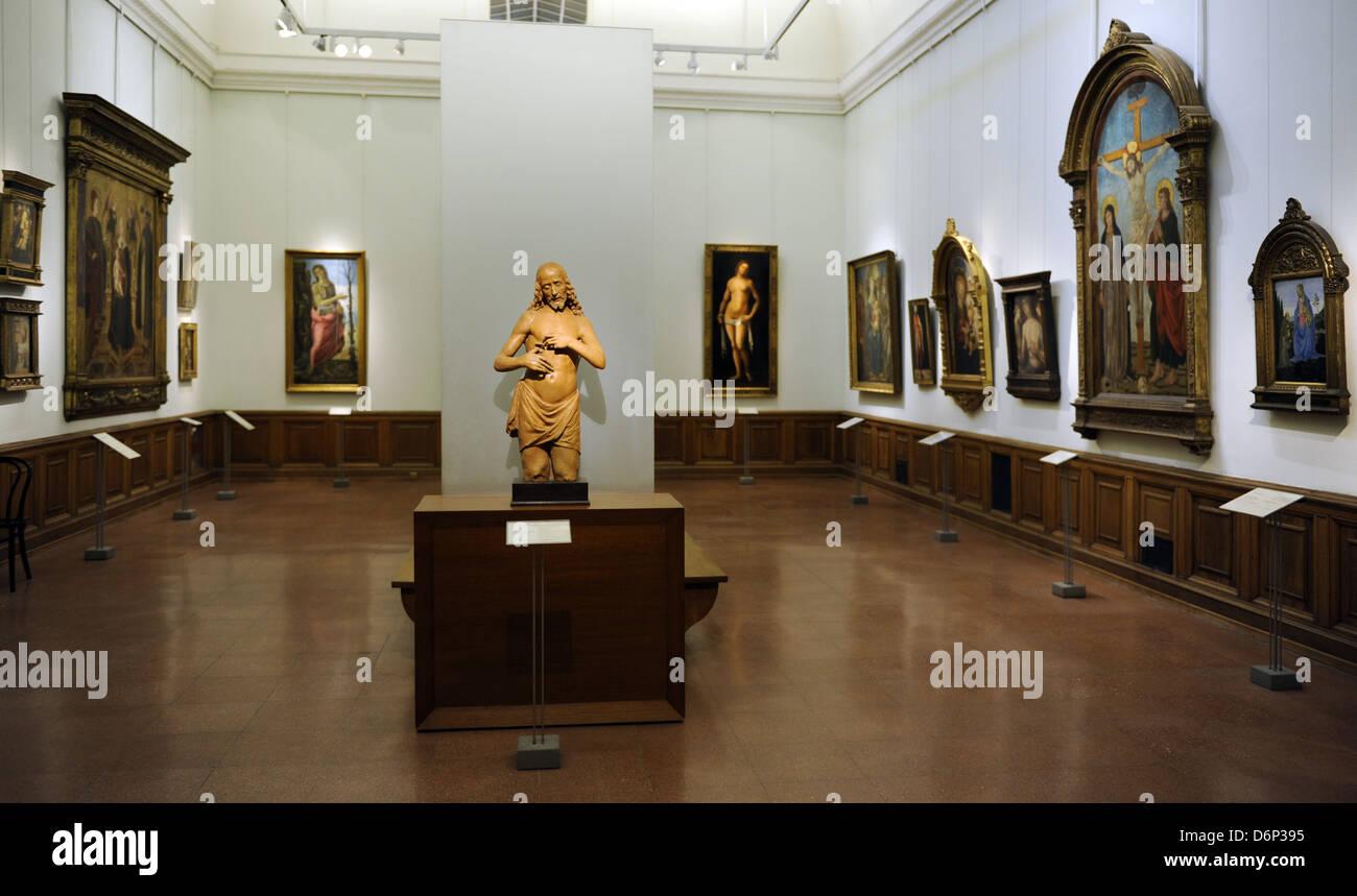 Museum der bildenden Künste. Zimmer. Budapest. Ungarn. Stockbild