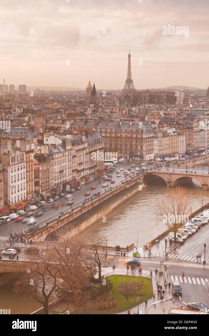 Die Stadt Paris von Notre-Dame de Paris, Paris, Frankreich, Europa Stockbild