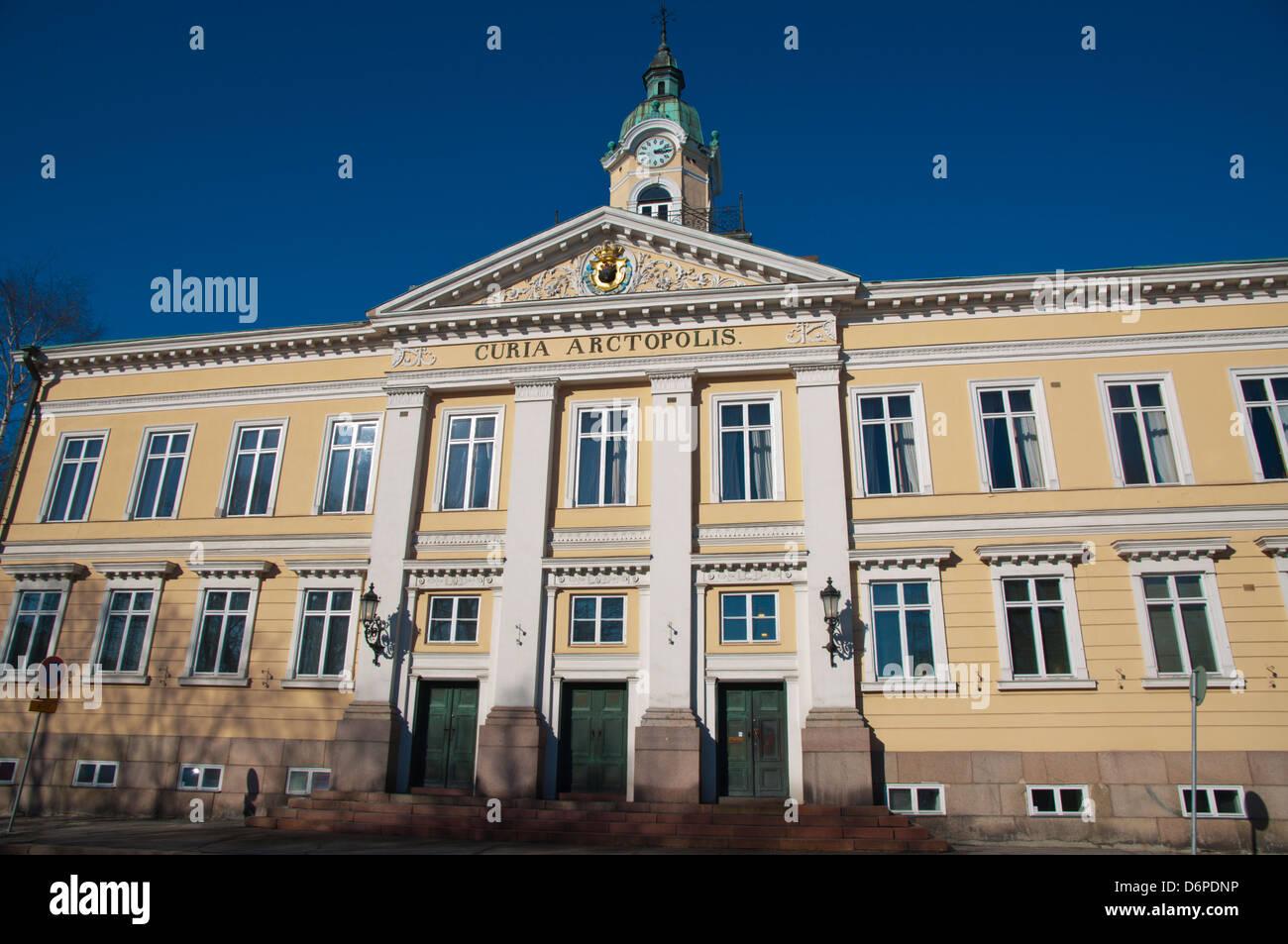Klassizistischen Stil Porin Raatihuone das Rathaus (1841) von Carl Ludvig Engel Pori Finnland Mitteleuropa Stockbild