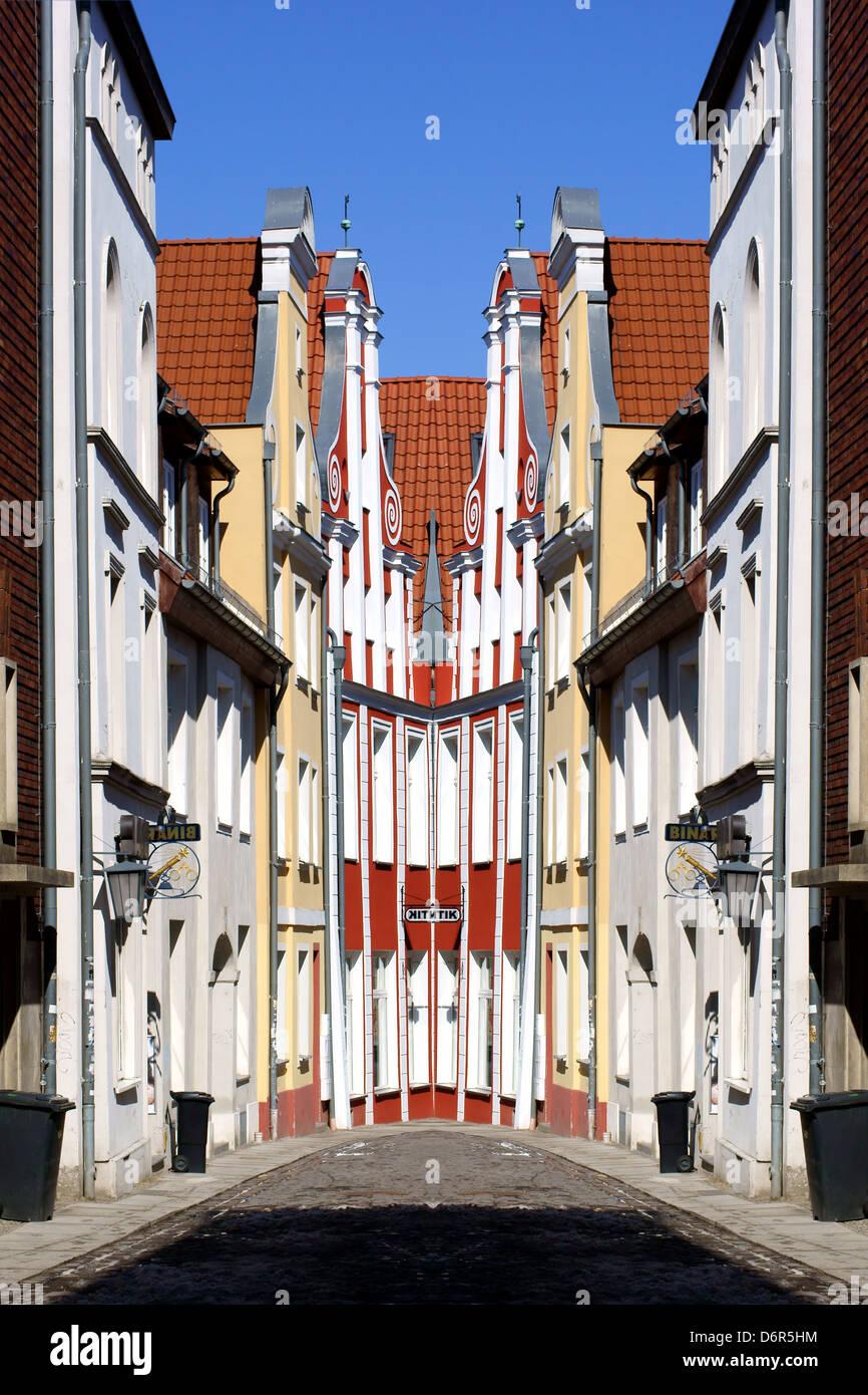 Stralsund Altstadt abstrakt Stockbild