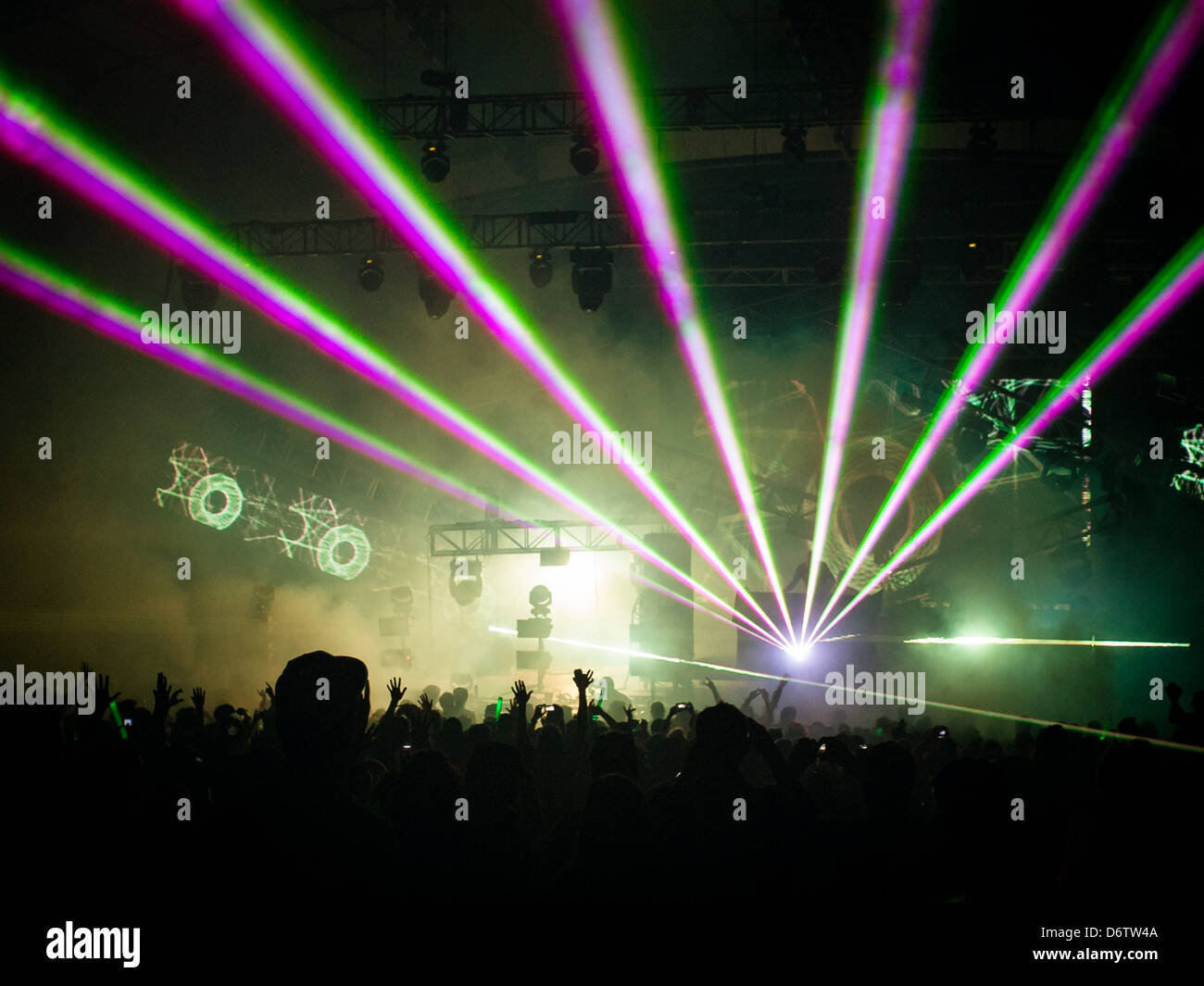 DJ-Set bei Summadayze in Melbourne, Australien Stockbild