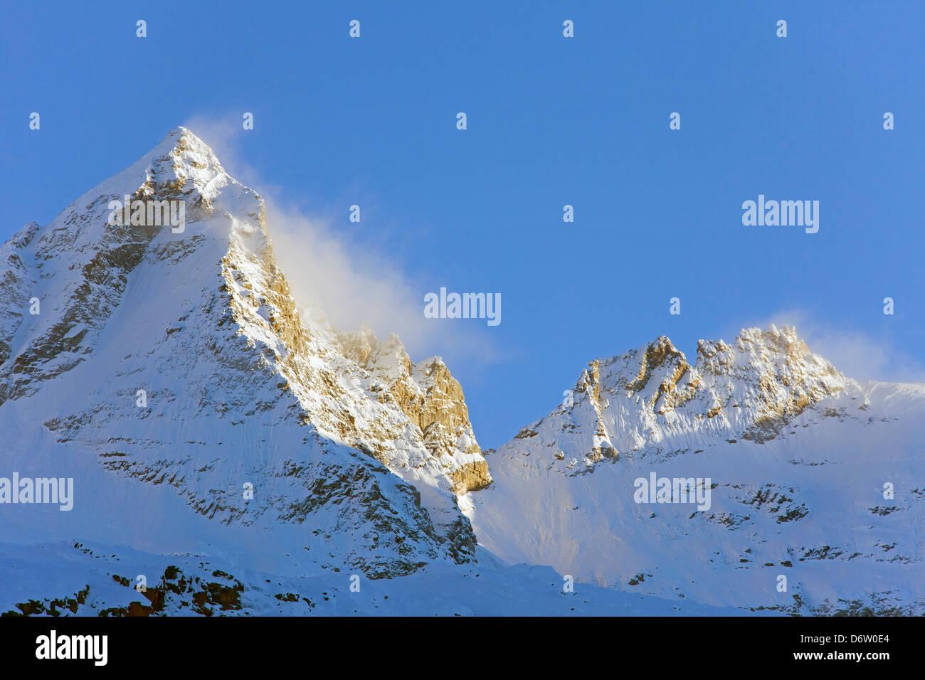 Der Berg Becca di Monciair, Gran Paradiso National Park in der Valle d ' Aosta, Italien Stockbild