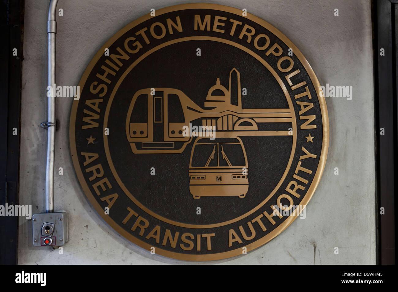 Siegel der Washington Metropolitan Area Transit Authority Stockbild