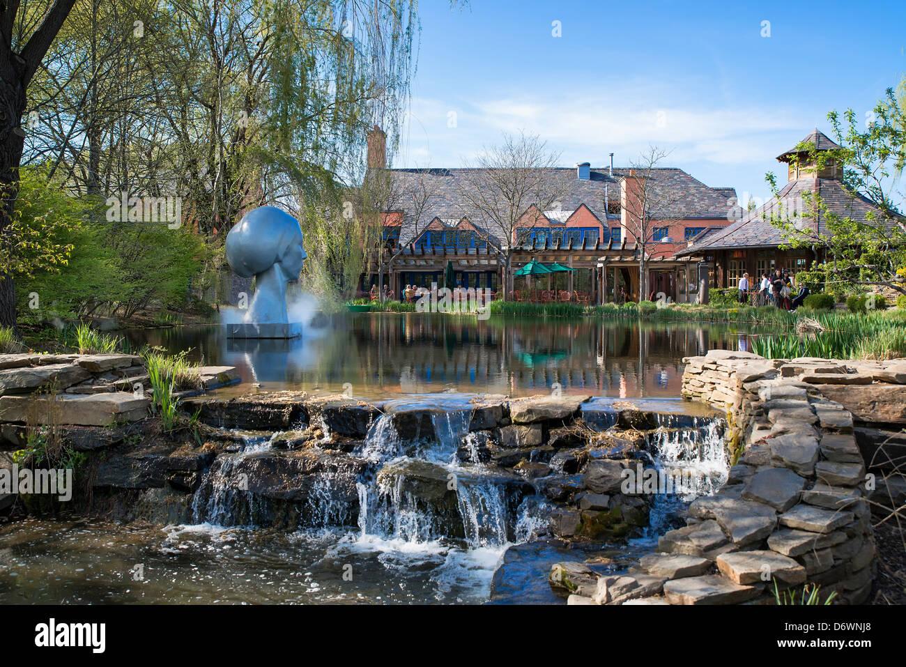 Ratte in den Restaurant, Gründe für Skulptur, Hamilton, New Jersey, USA Stockbild