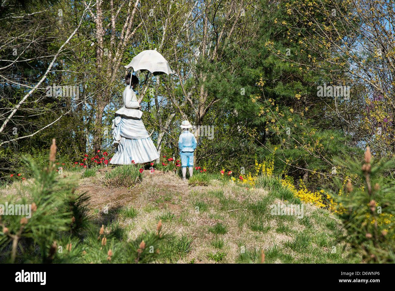 Hommage an Monet, Gründe für Skulptur, Hamilton, New Jersey, USA Stockbild