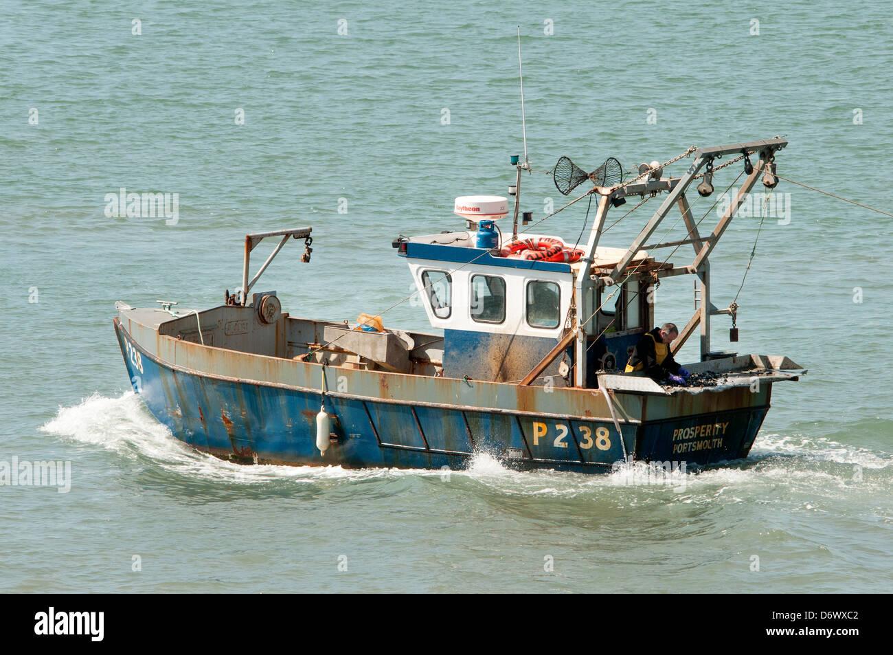 Wohlstand Portsmouth Fischerboot Stockbild