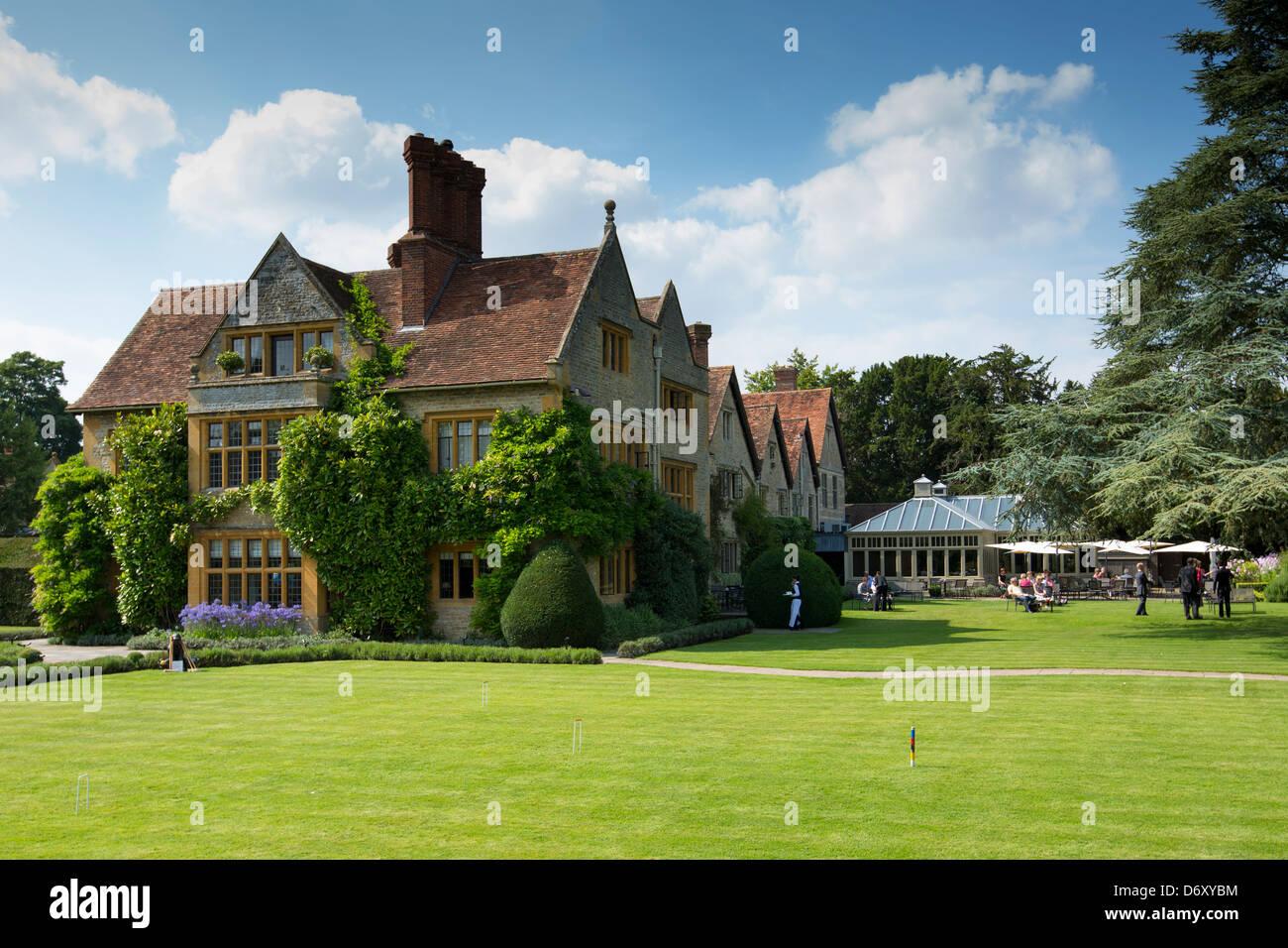 Le Manoir Aux Quat' Saisons Luxushotel gegründet von Raymond Blanc in Great Milton in Oxfordshire, Vereinigtes Königreich Stockfoto