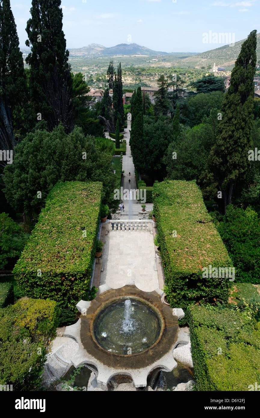 Villa D Este Tivoli Italien Uber Blick Auf Den Brunnen Der