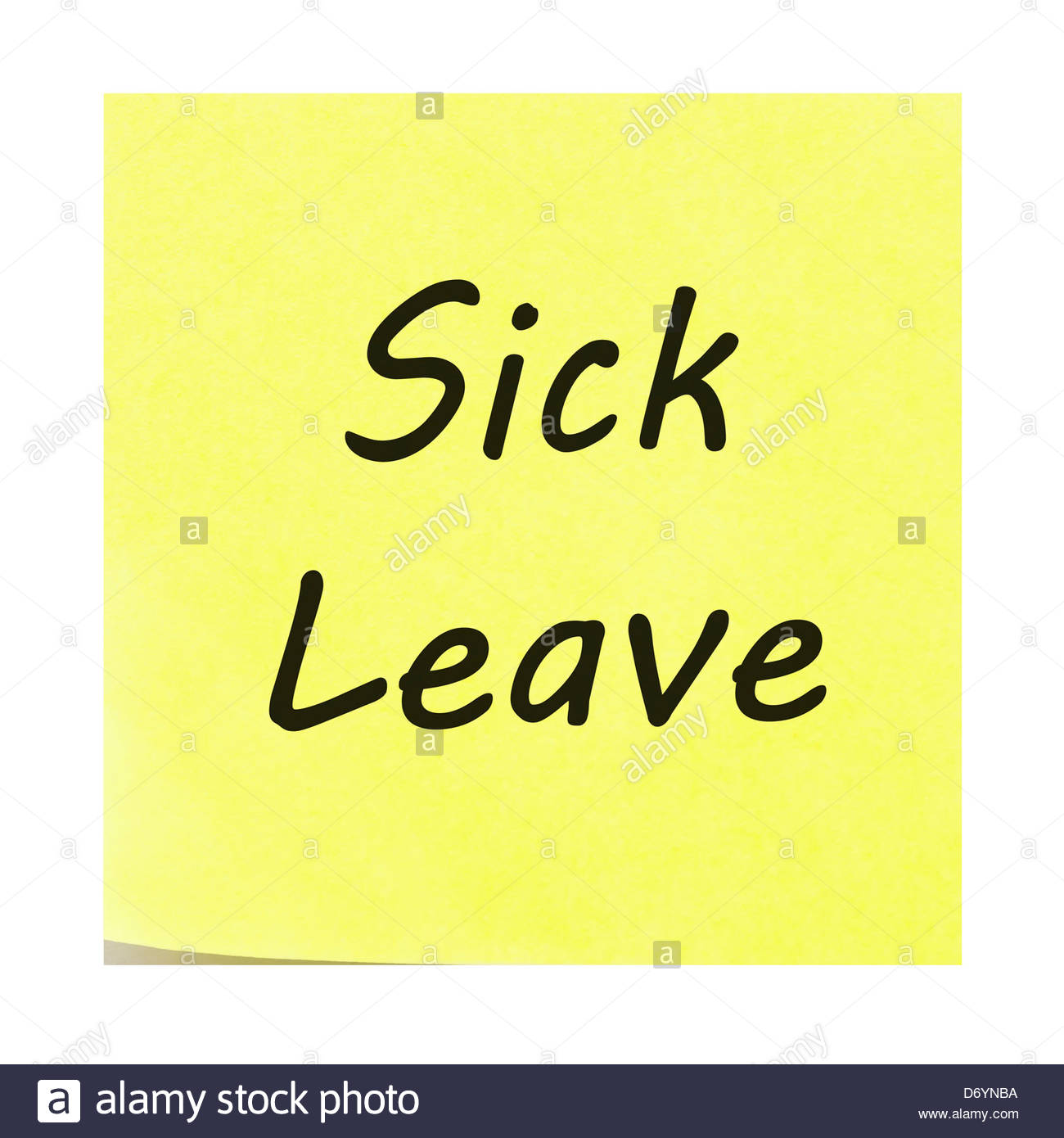 Sick Leave Stockfotos & Sick Leave Bilder - Alamy