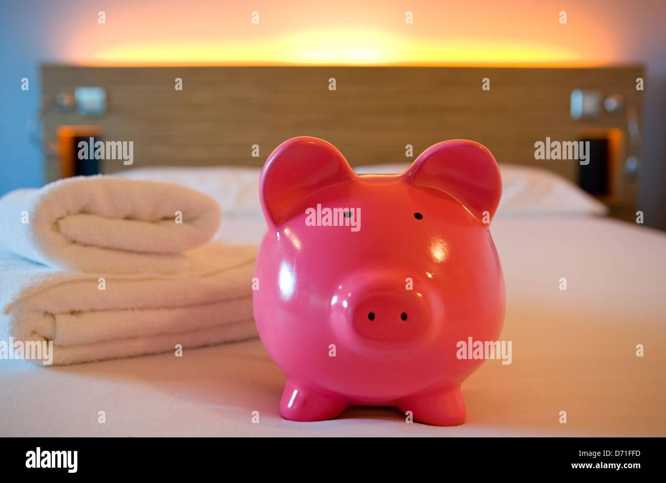 sparen in hotels Stockbild