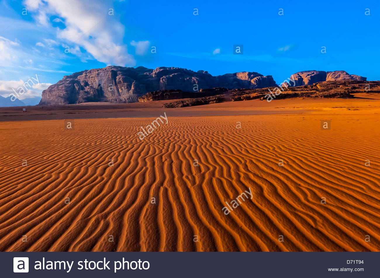 Arabische Wüste Wadi Rum, Jordanien. Stockfoto