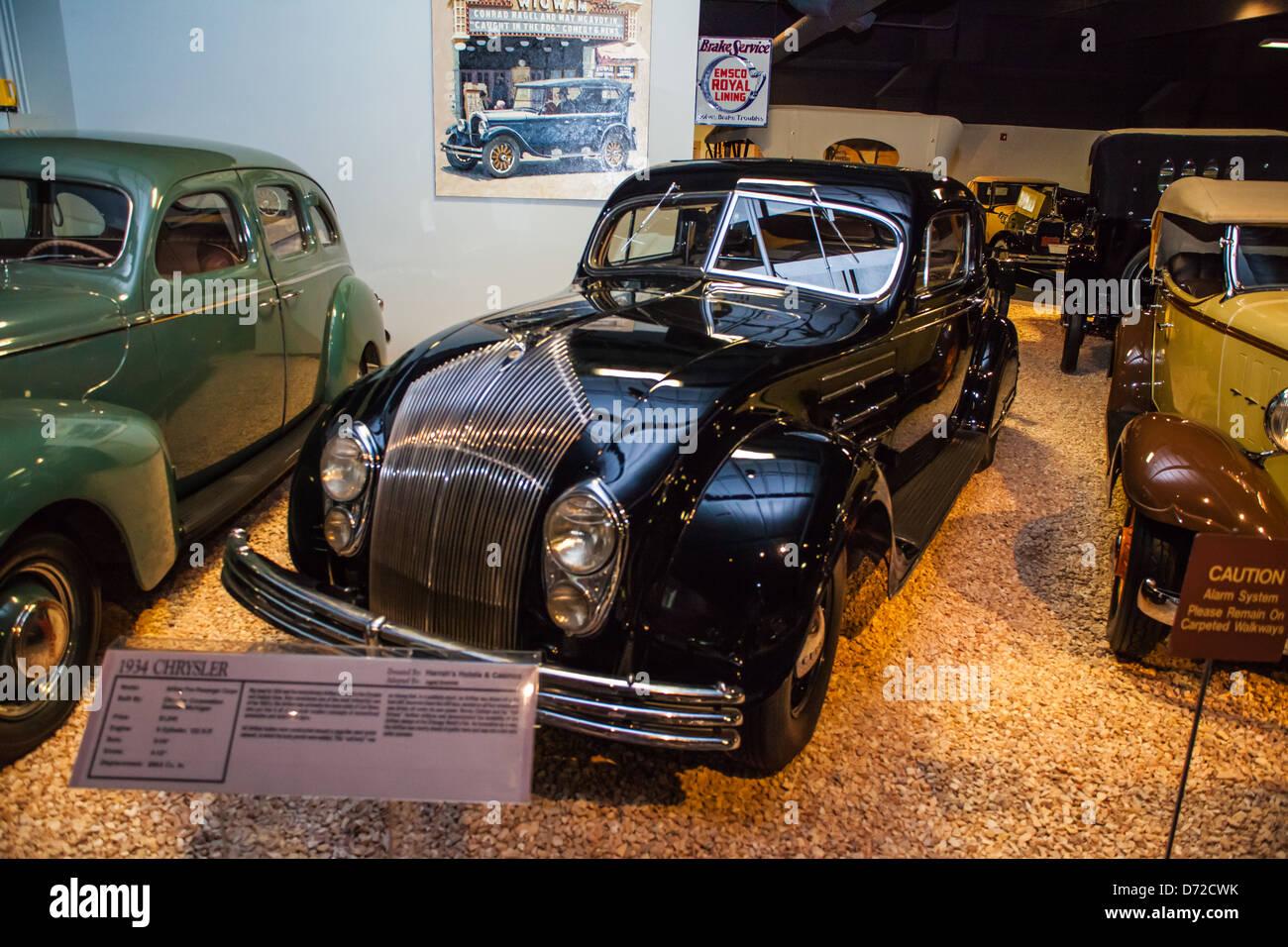 classic car reno car museum stockfotos & classic car reno car museum