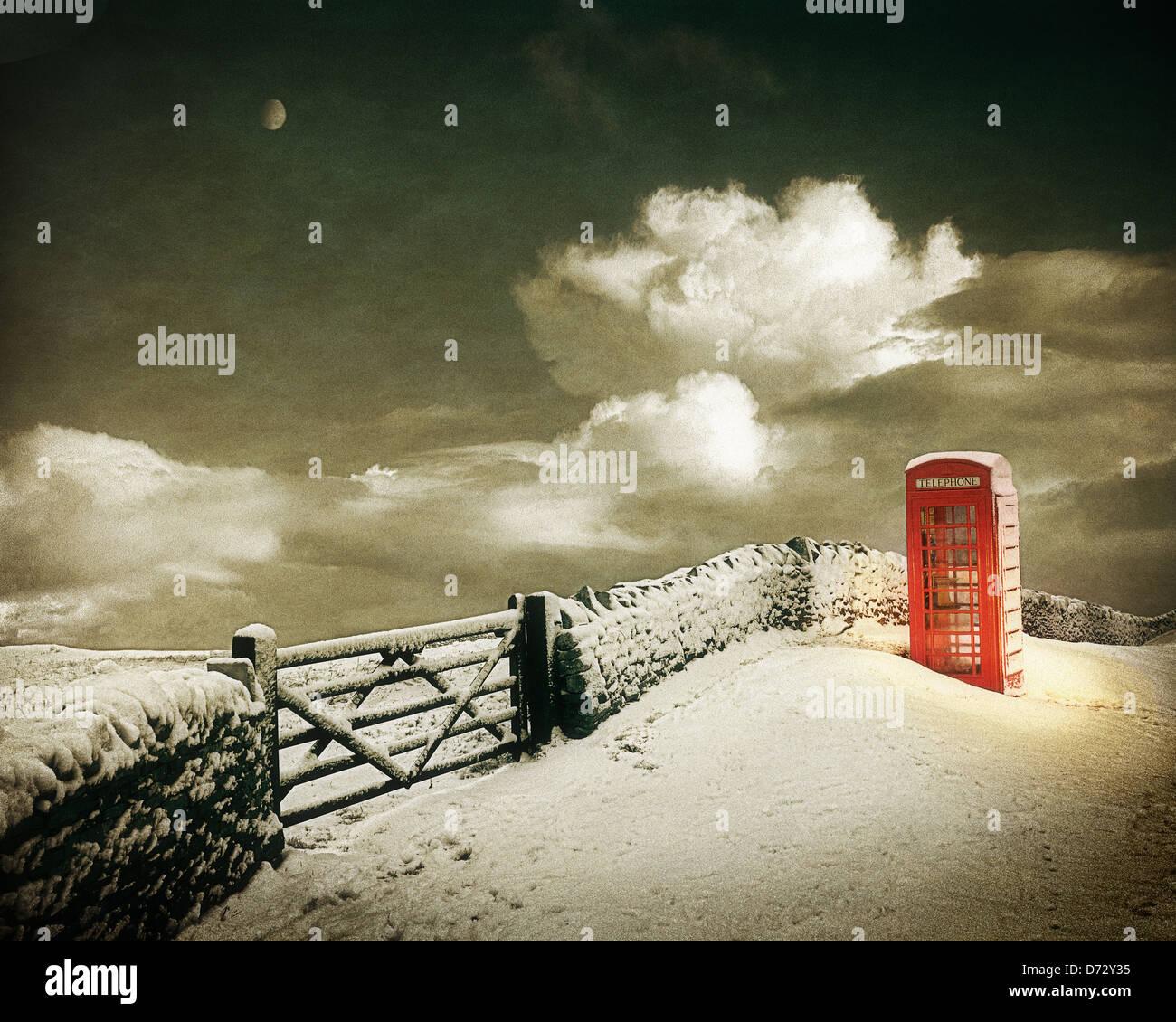 GB - GLOUCESTERSHIRE: Winter in den Cotswolds Stockbild