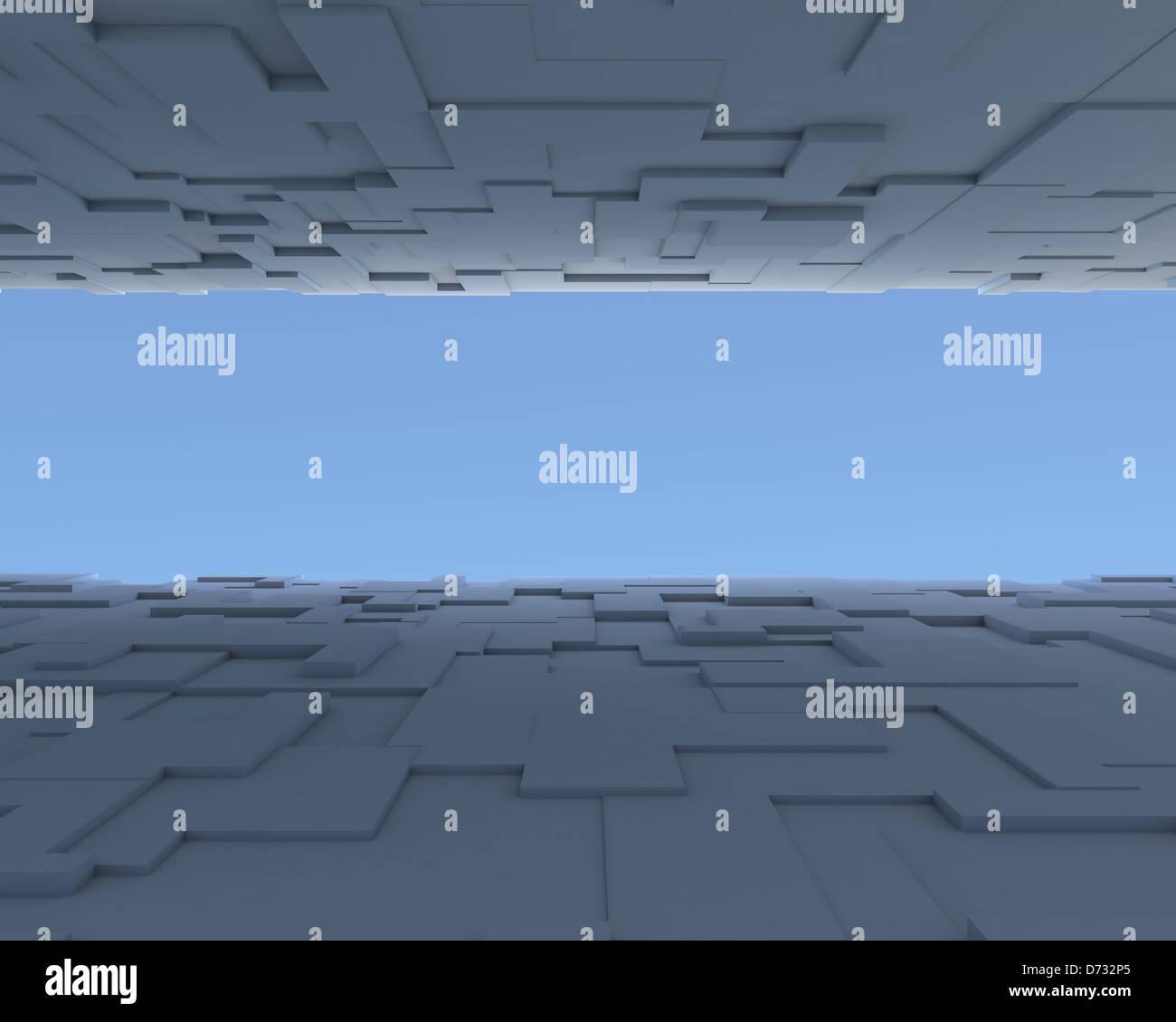Abstrakte konzeptuelle Hintergrund Stockbild