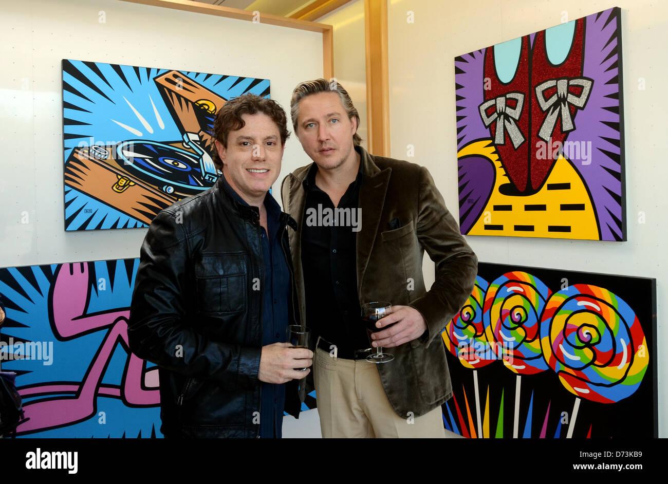 Galerie Mensing Hamm pop artist burton morris stockfotos pop artist