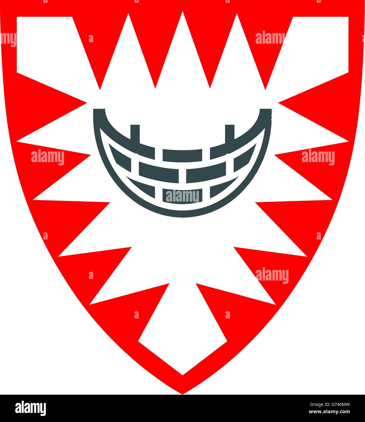 Wappen Der Stadt Kiel Schleswig Holstein Stockfoto Bild 56022089