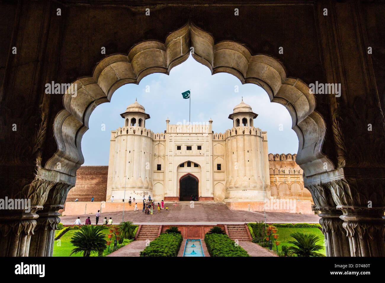 Alamgiri Gatter, Lahore Fort, Lahore, Pakistan Stockbild