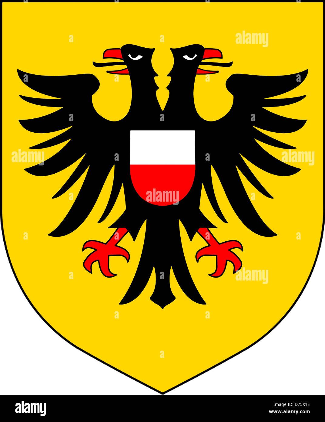 Wappen Der Deutschen Stadt Lubeck In Schleswig Holstein Stockfoto