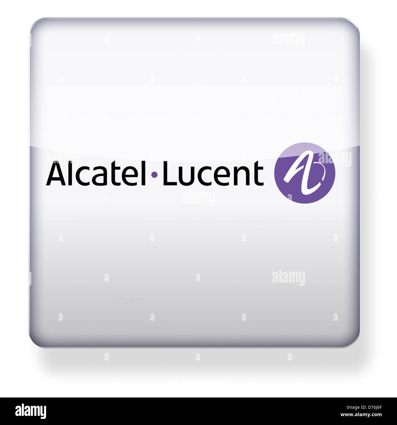 Alcatel Lucent Logo Als Ein App Symbol Clipping Pfad Enthalten